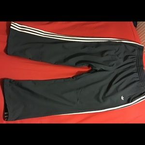 ADIDAS MEN'S ATHLETIC PANTS SIZE XL GREY PREOWNED